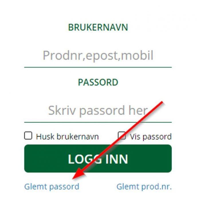 Glemt passord